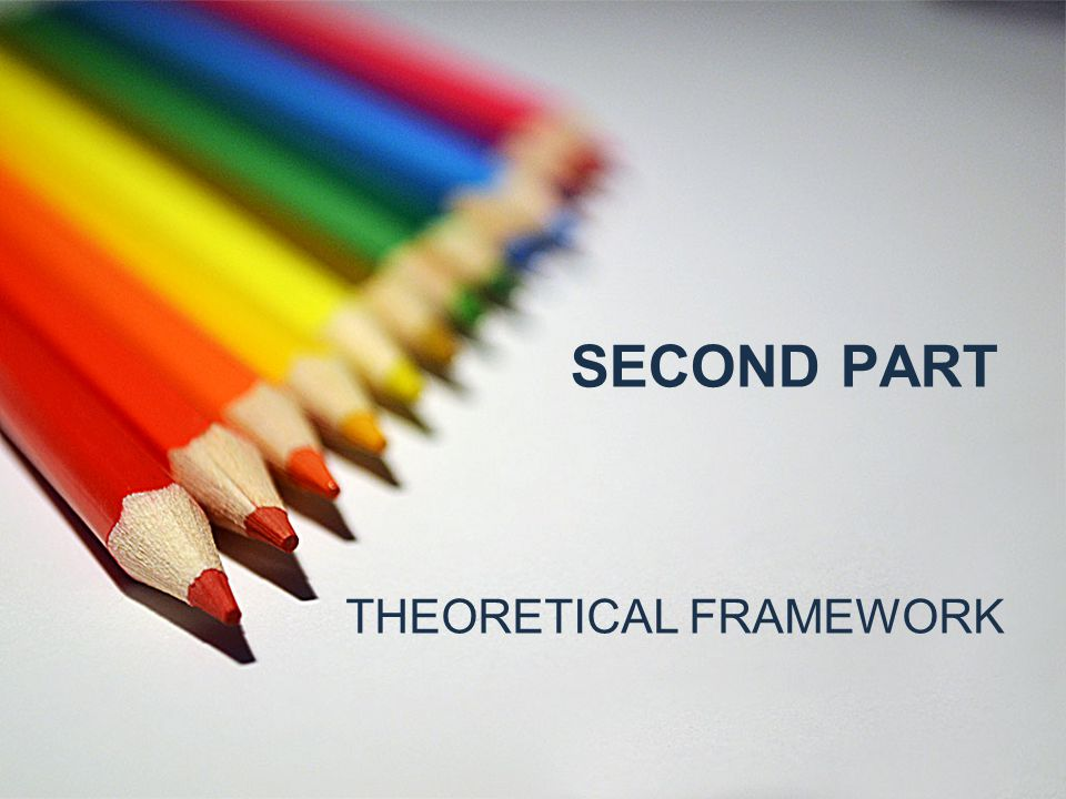SECOND PART THEORETICAL FRAMEWORK