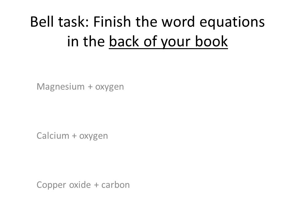 Starter: What do you know.Quiz to test what you know on C1.1 and C1.2 Finished early.