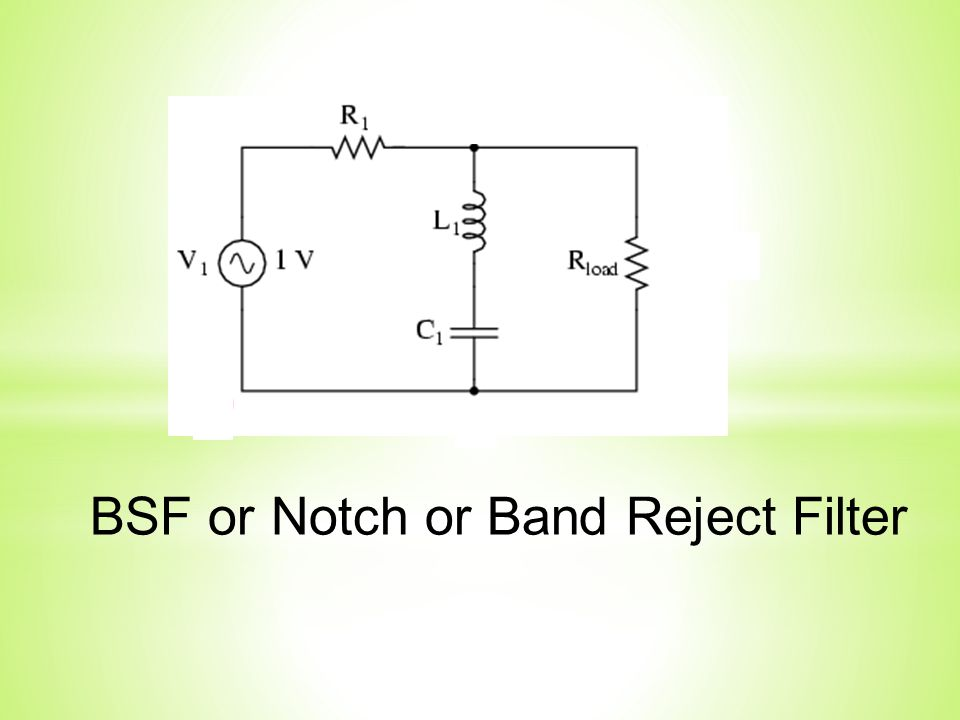 BSF or Notch or Band Reject Filter