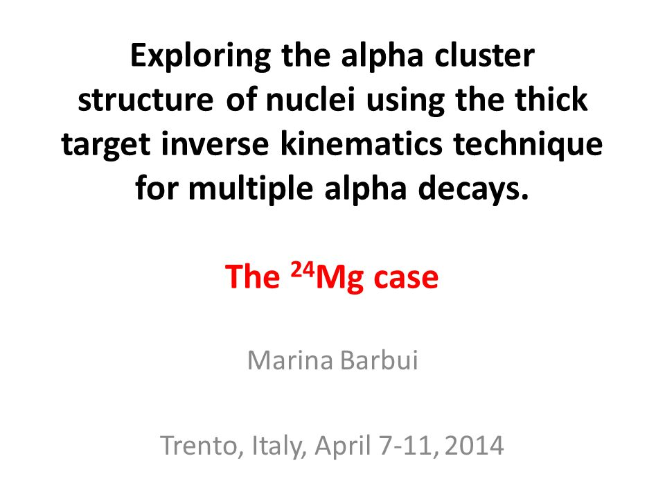 Exploring the alpha cluster structure of nuclei using the thick target inverse kinematics technique for multiple alpha decays. The 24 Mg case Marina B