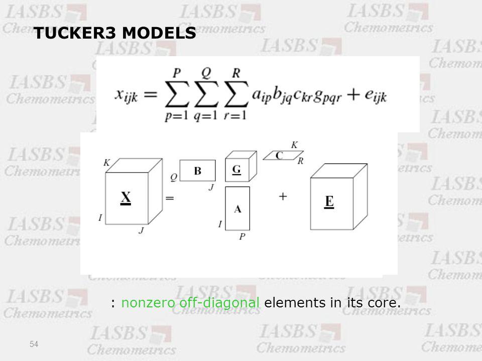 54 TUCKER3 MODELS : nonzero off-diagonal elements in its core.
