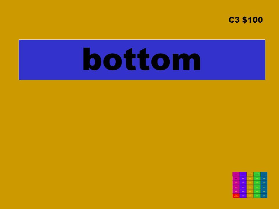 C3 $100 bottom