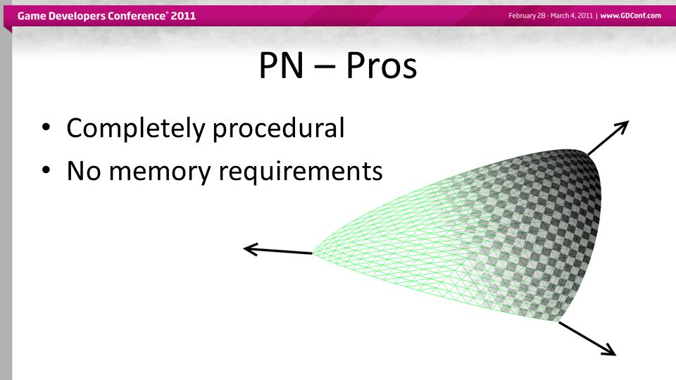 PN – Pros Completely procedural No memory requirements