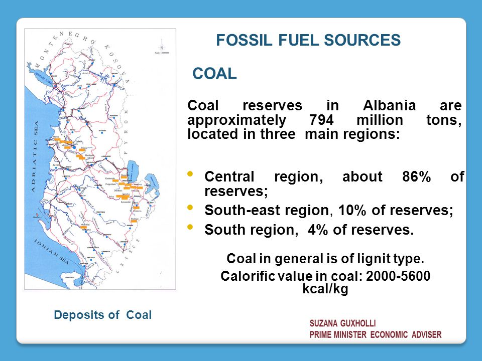 Central region, about 86% of reserves; South-east region, 10% of reserves; South region, 4% of reserves.