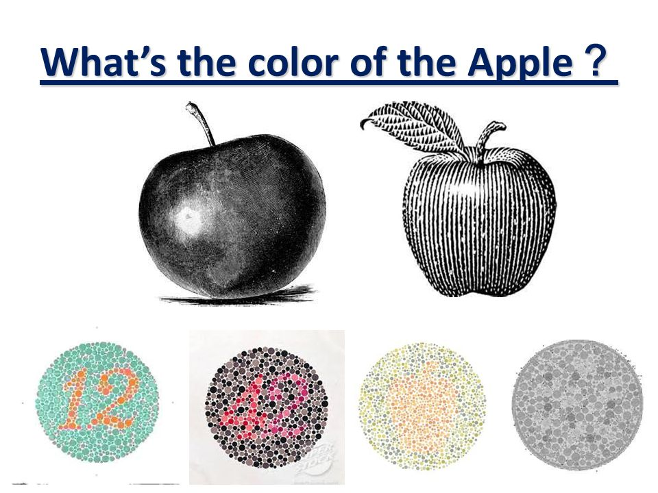 What's the color of the Apple ?