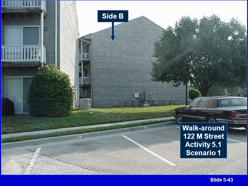 Slide 5-43 Side B Walk-around 122 M Street Activity 5.1 Scenario 1