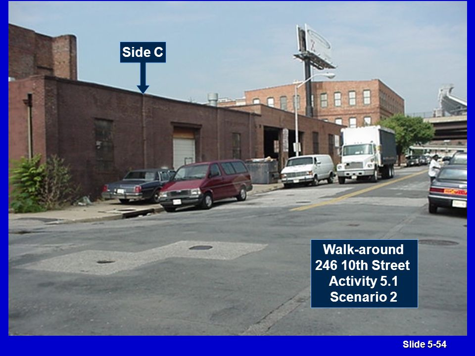 Slide 5-54 Side C Walk-around 246 10th Street Activity 5.1 Scenario 2