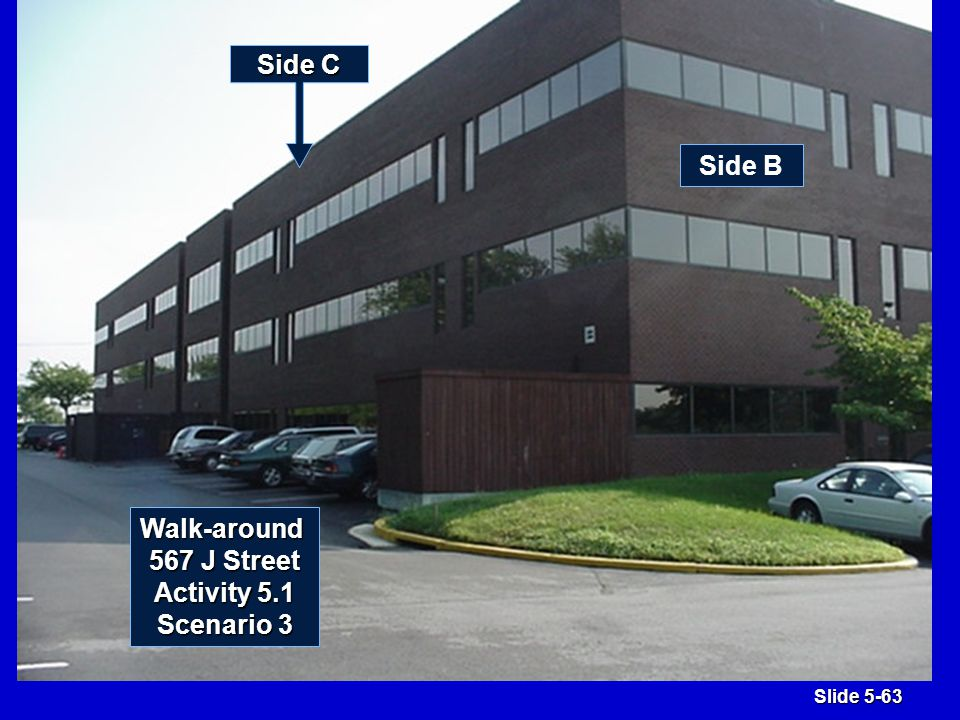 Slide 5-63 Side C Side B Walk-around 567 J Street Activity 5.1 Scenario 3