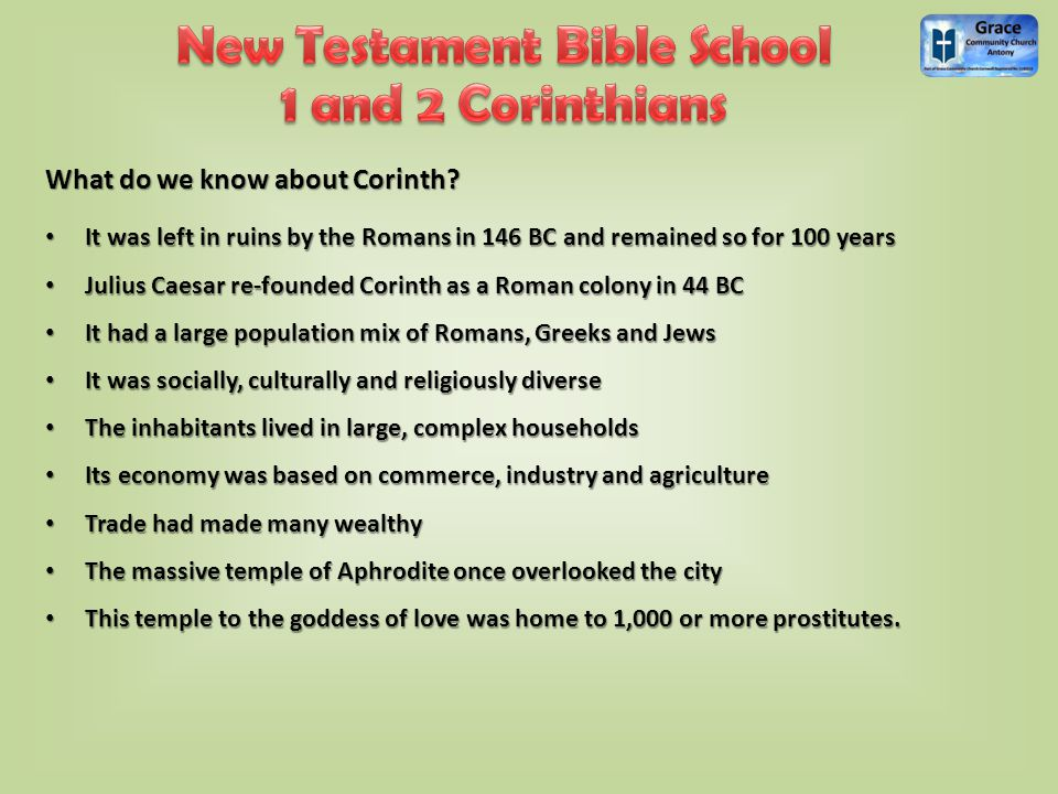 What do we know about Corinth.