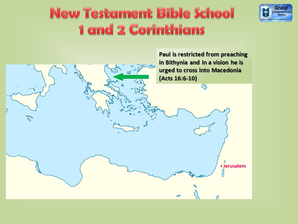He establishes churches in Philippi, Thessalonica and Berea in the north...