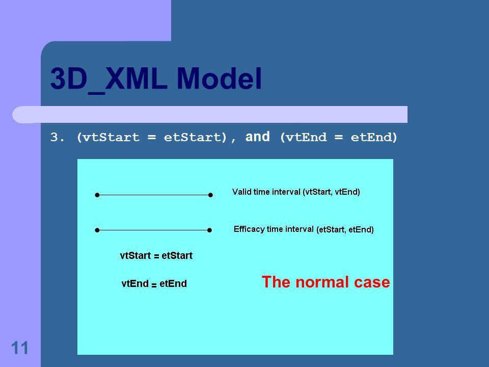 11 3D_XML Model 3. (vtStart = etStart), and (vtEnd = etEnd) The normal case