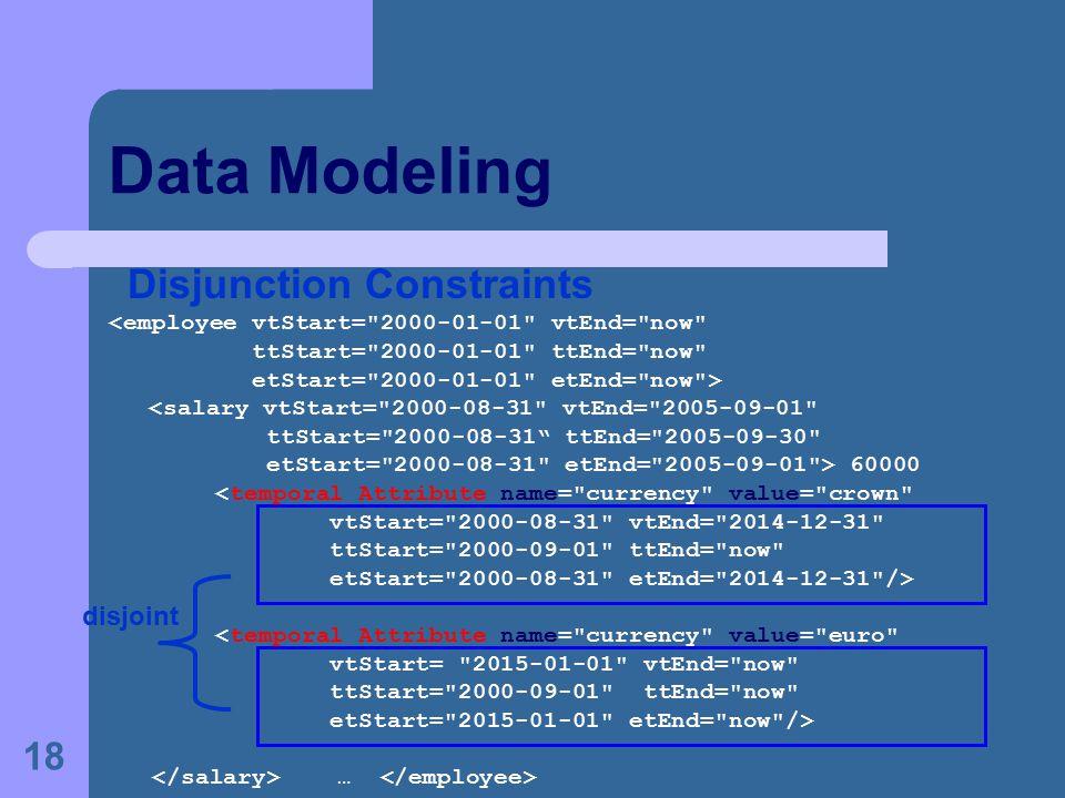 18 Data Modeling Disjunction Constraints <employee vtStart=