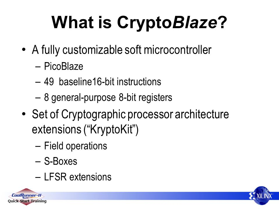 Quick Start Training What is CryptoBlaze.
