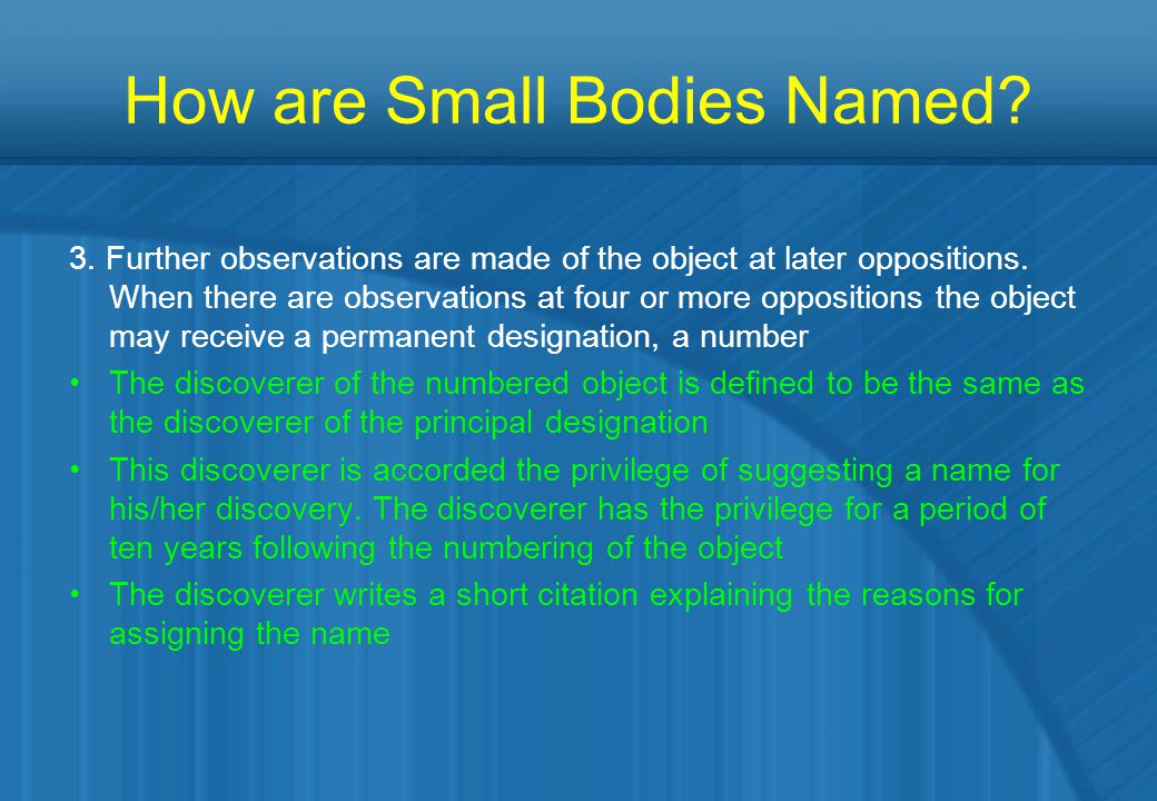 How are Small Bodies Named.4.