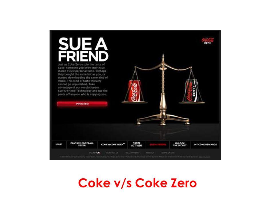 Coke v/s Coke Zero
