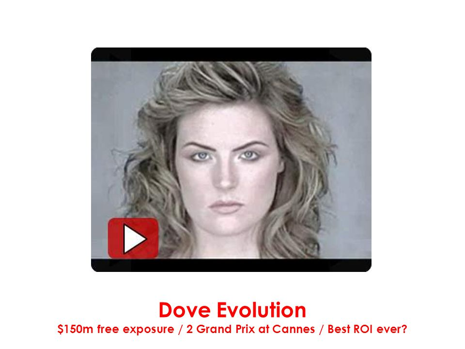 Dove Evolution $150m free exposure / 2 Grand Prix at Cannes / Best ROI ever