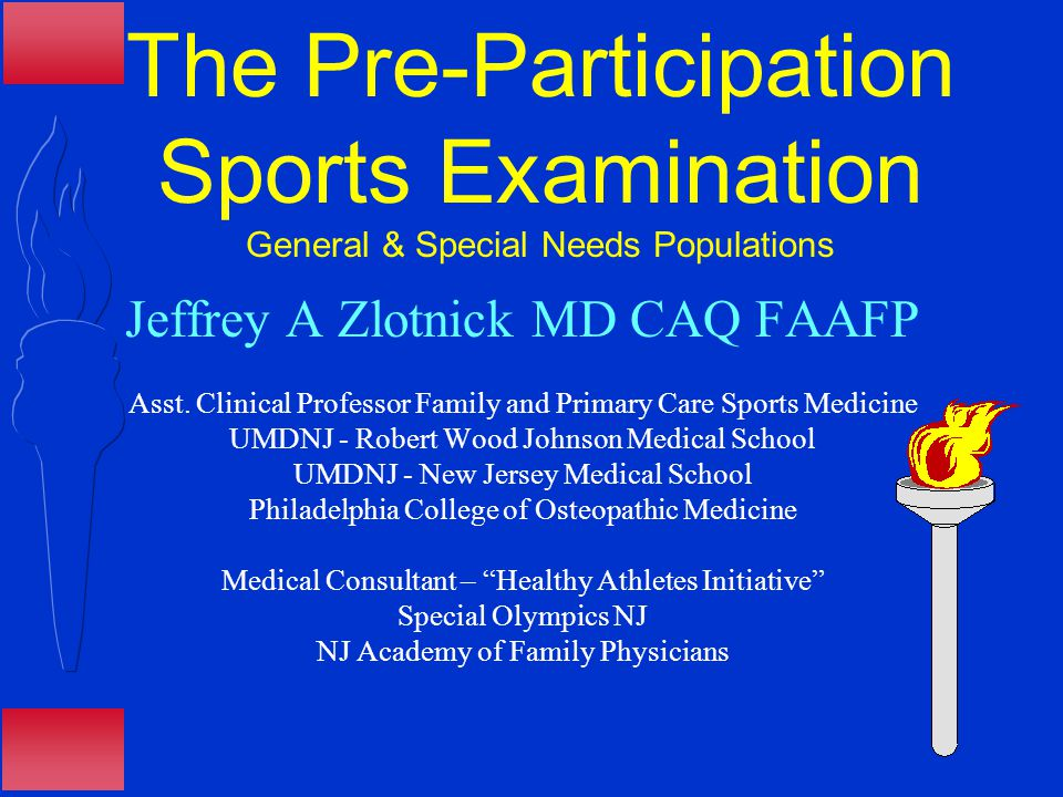 Jeffrey A. Zlotnick, MD CAQ NJ Academy of Family Physicians Vitals