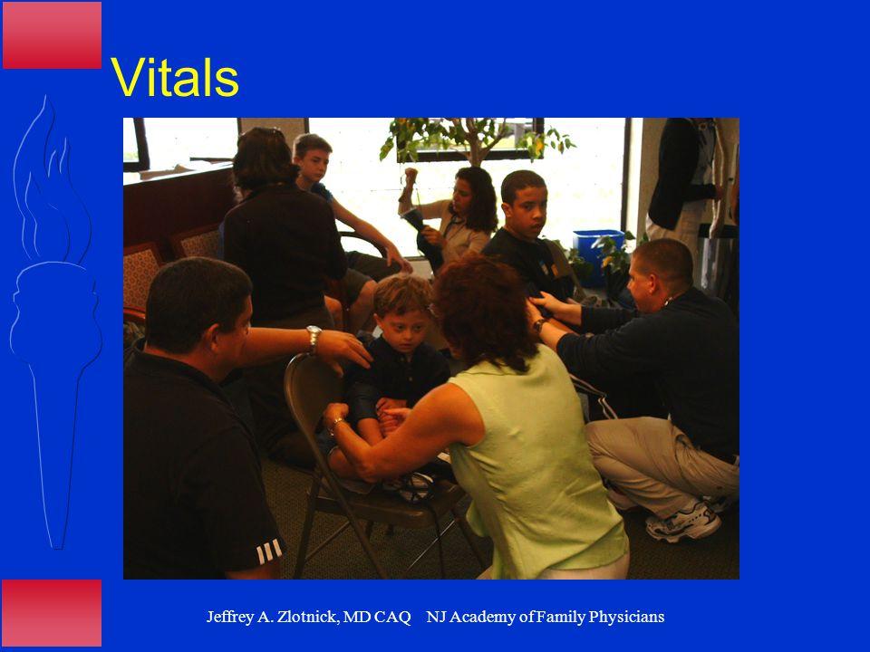Jeffrey A. Zlotnick, MD CAQ NJ Academy of Family Physicians Vitals