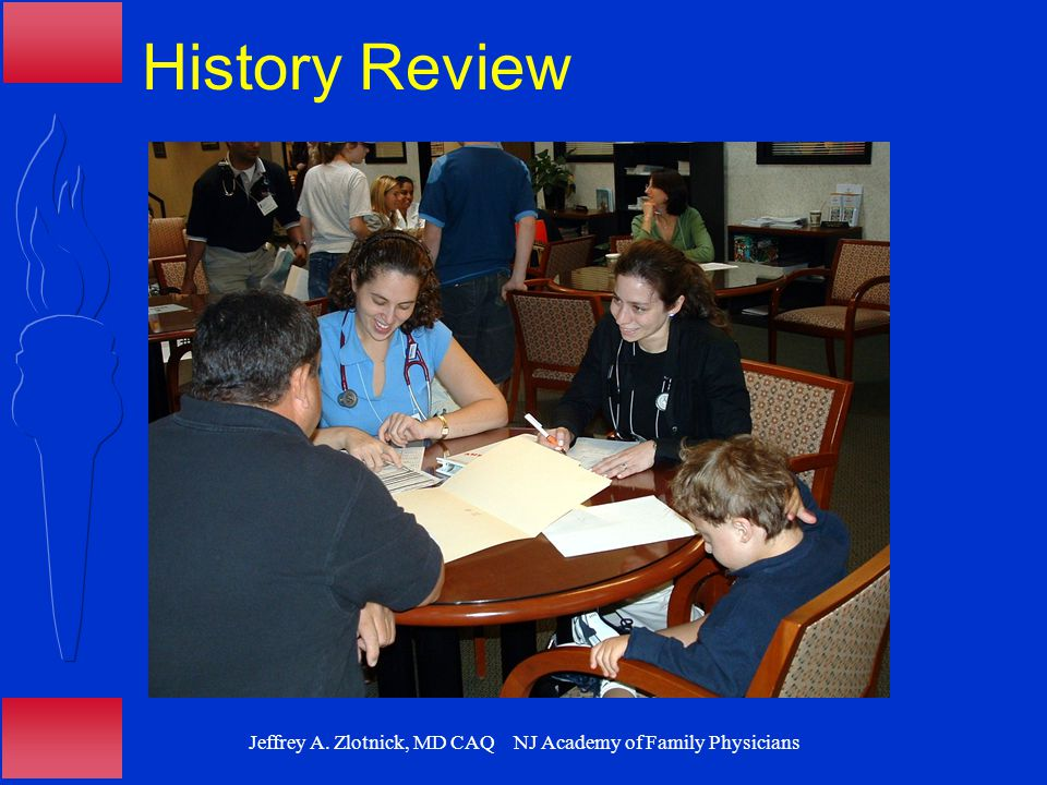 Jeffrey A. Zlotnick, MD CAQ NJ Academy of Family Physicians History Review