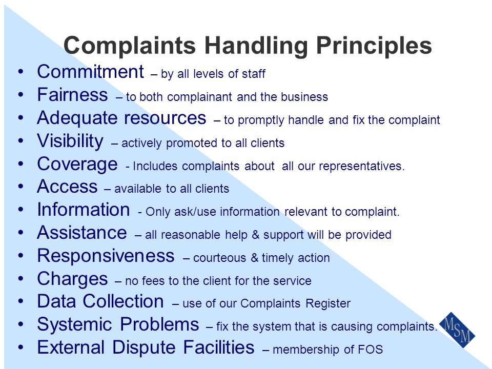 Who Is The Complaints Officer.