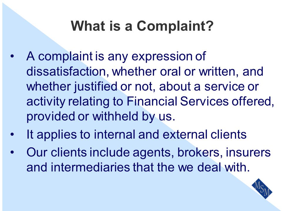 Why is it important to resolve complaints.