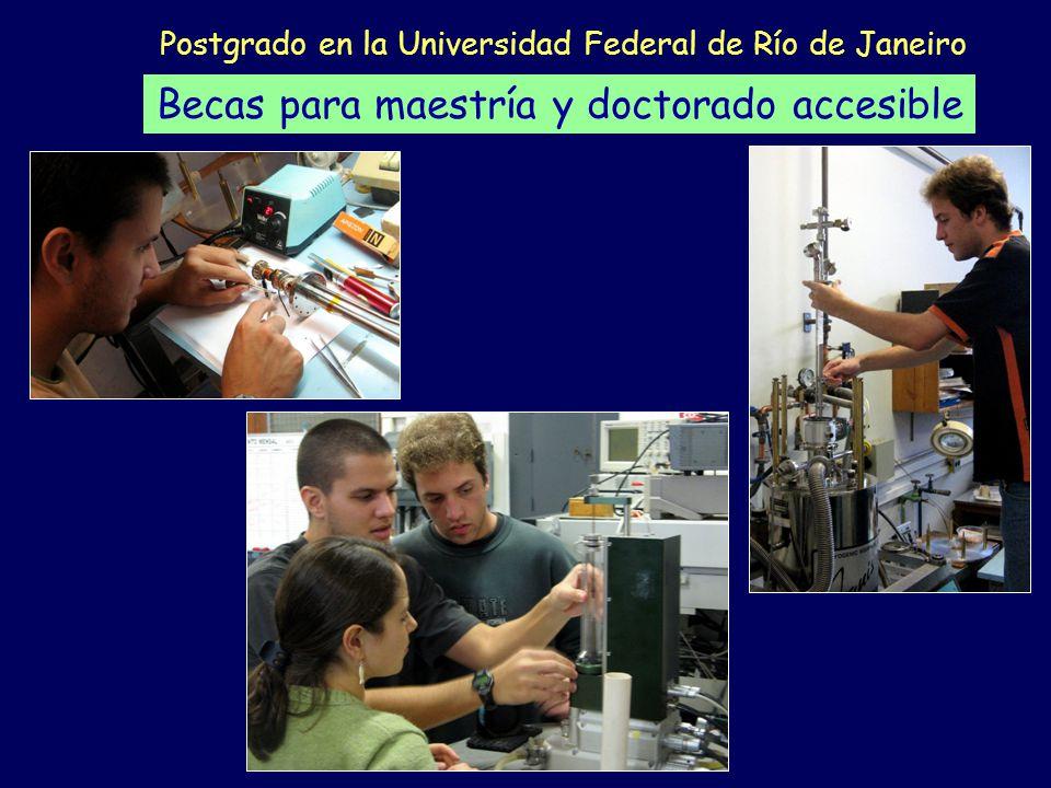 Postgrado en la Universidad Federal de Río de Janeiro Becas para maestría y doctorado accesible