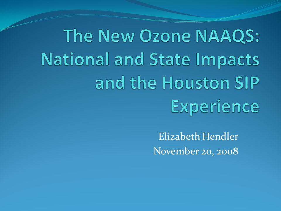 Ambient Ozone Monitoring Houston is the most densely monitored region in the nation.