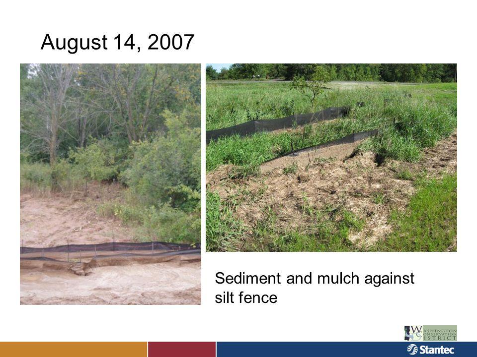 August 14, 2007 Brown's Creek Sediment plume