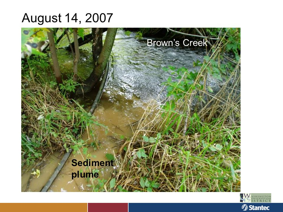 Monitoring Initial data collection at monitoring points in fall 2007 Annual monitoring 2008- 2011 –Data collected at five locations Within sedimentation areas In wetland with reconstructed outlet