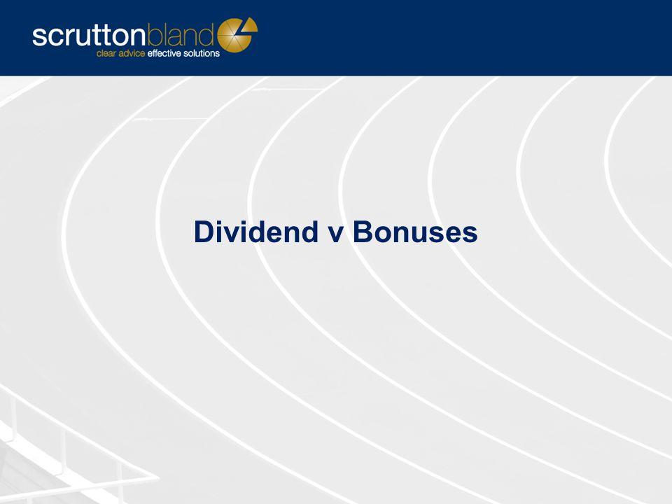 Dividend v Bonuses
