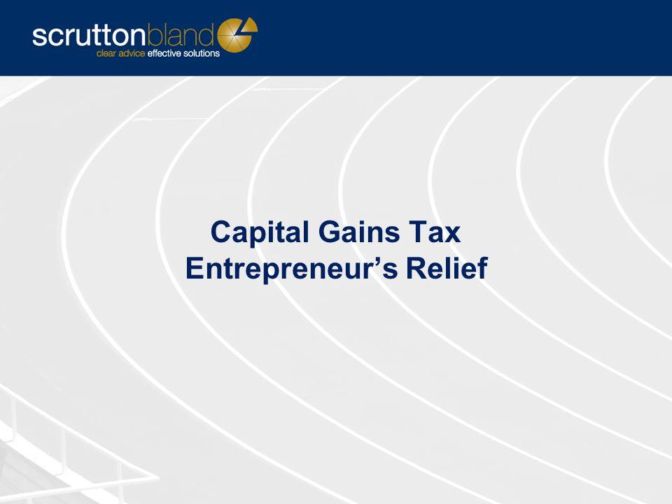 Capital Gains Tax Entrepreneur's Relief