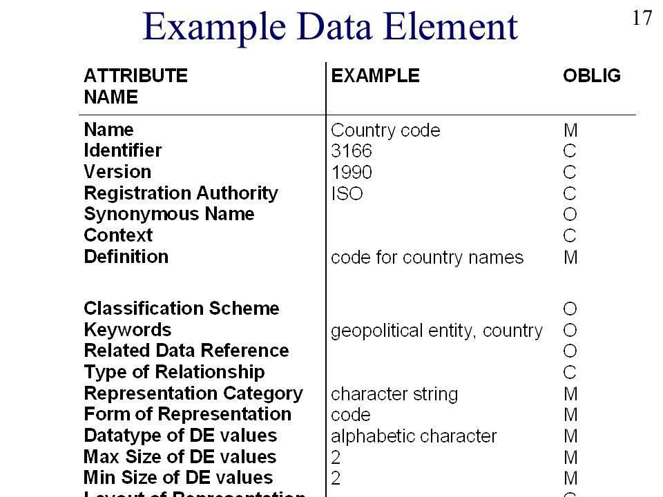17 Example Data Element