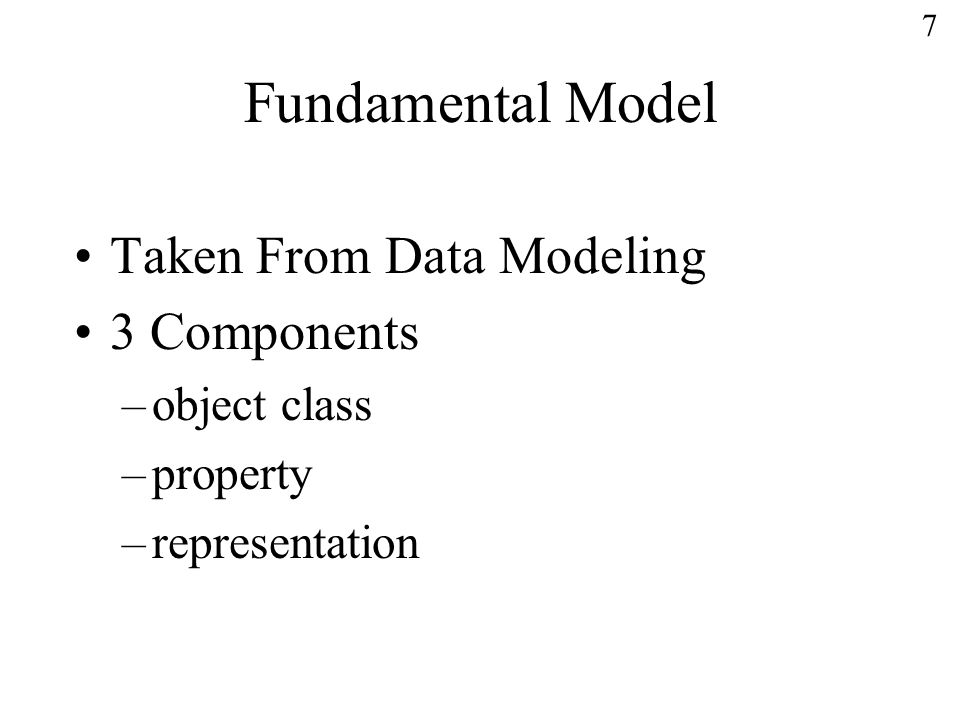 18 Summary Part 3 is a good start to establishing an unambiguous set of specifics documenting data elements.