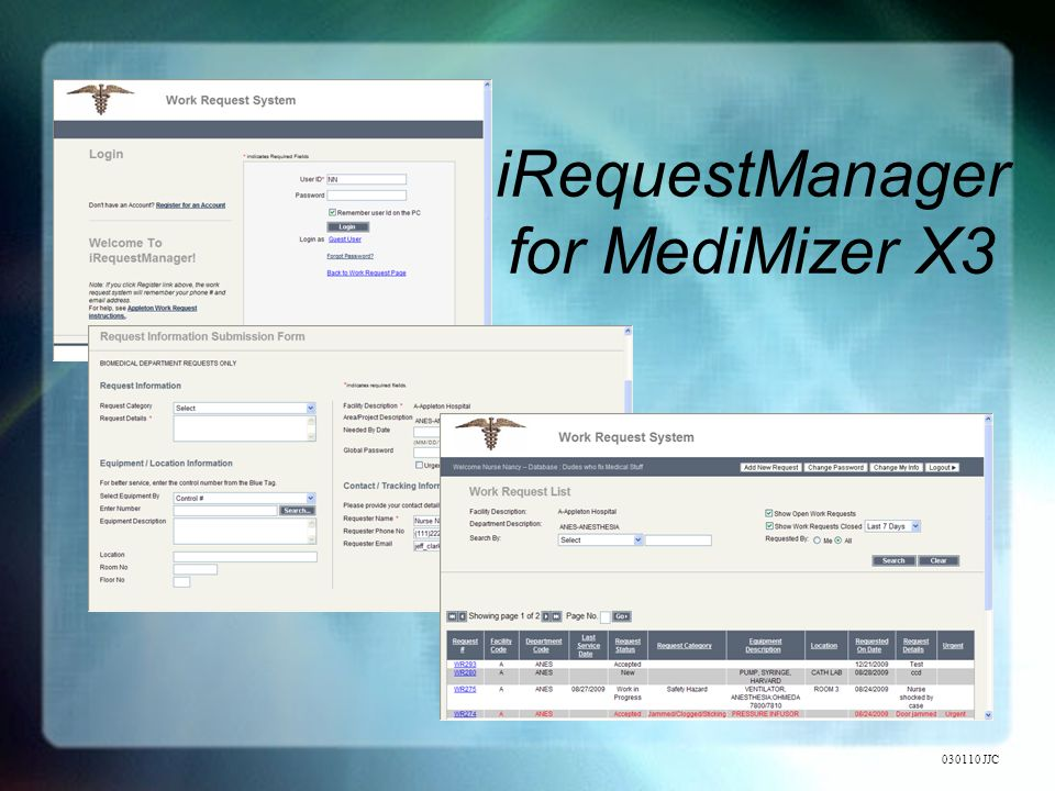 iRequestManager for MediMizer X3 030110 JJC