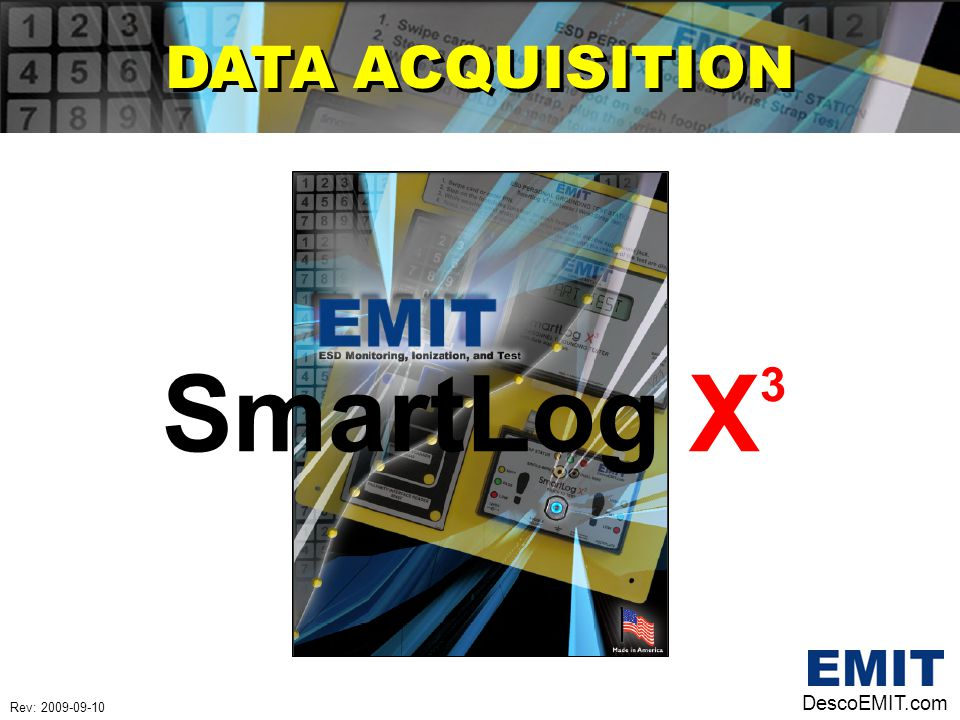 SmartLog X 3 DATA ACQUISITION DescoEMIT.com Rev: 2009-09-10