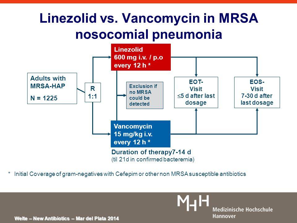 Welte – New Antibiotics – Mar del Plata 2014 Linezolid vs.