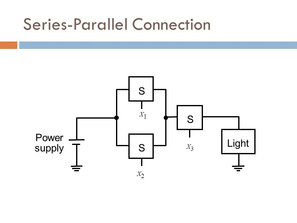 S Power supplyS Light S X1X1 X2X2 X3X3 Series-Parallel Connection