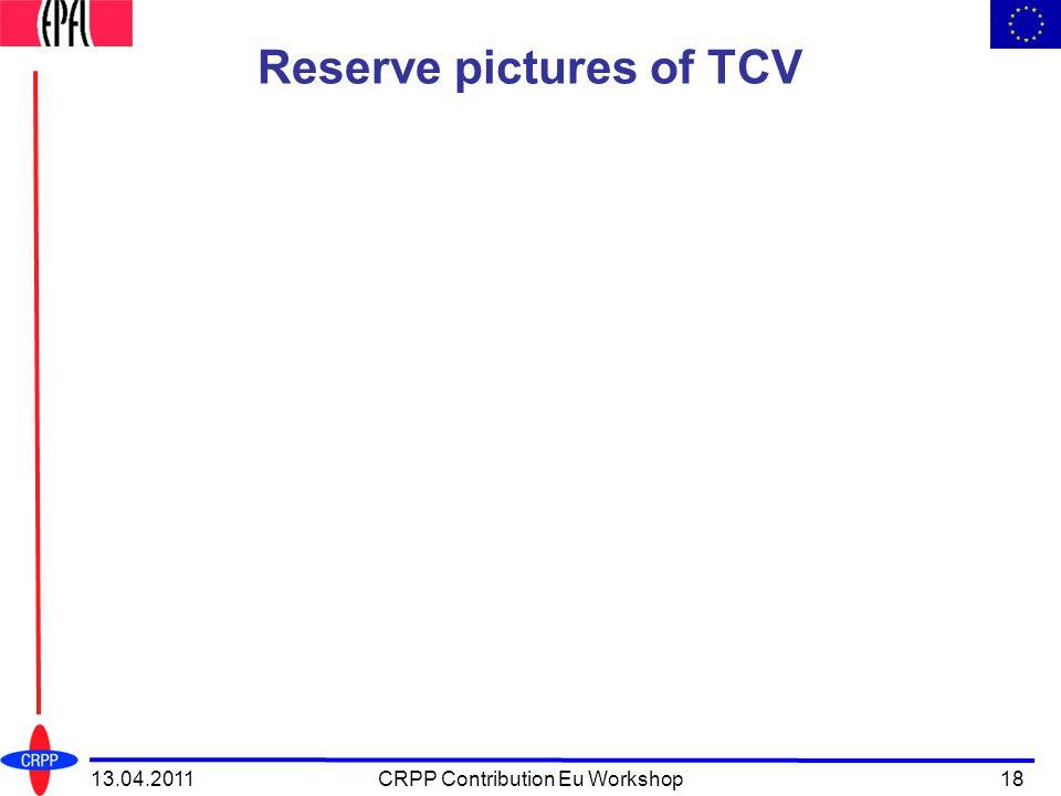Reserve pictures of TCV 13.04.2011CRPP Contribution Eu Workshop18