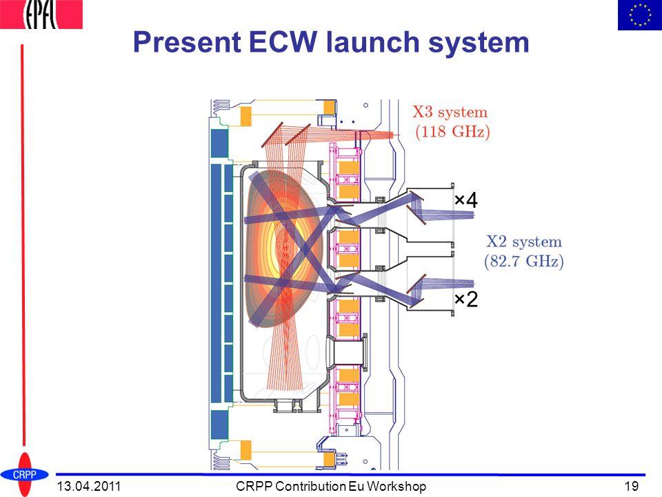Present ECW launch system 13.04.2011CRPP Contribution Eu Workshop19 ×4 ×2