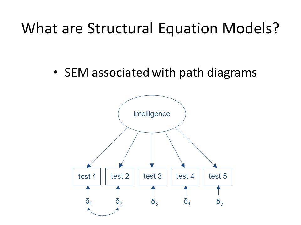 General Model Measurement Model x = indicators of ξ Λ x = factor loadings of ξ on x y = indicators of η Λ y = factor loadings of η on y δ = measurement error for x ε = measurement error for y