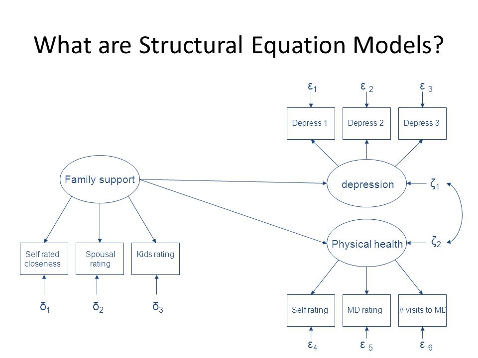 What are Structural Equation Models.