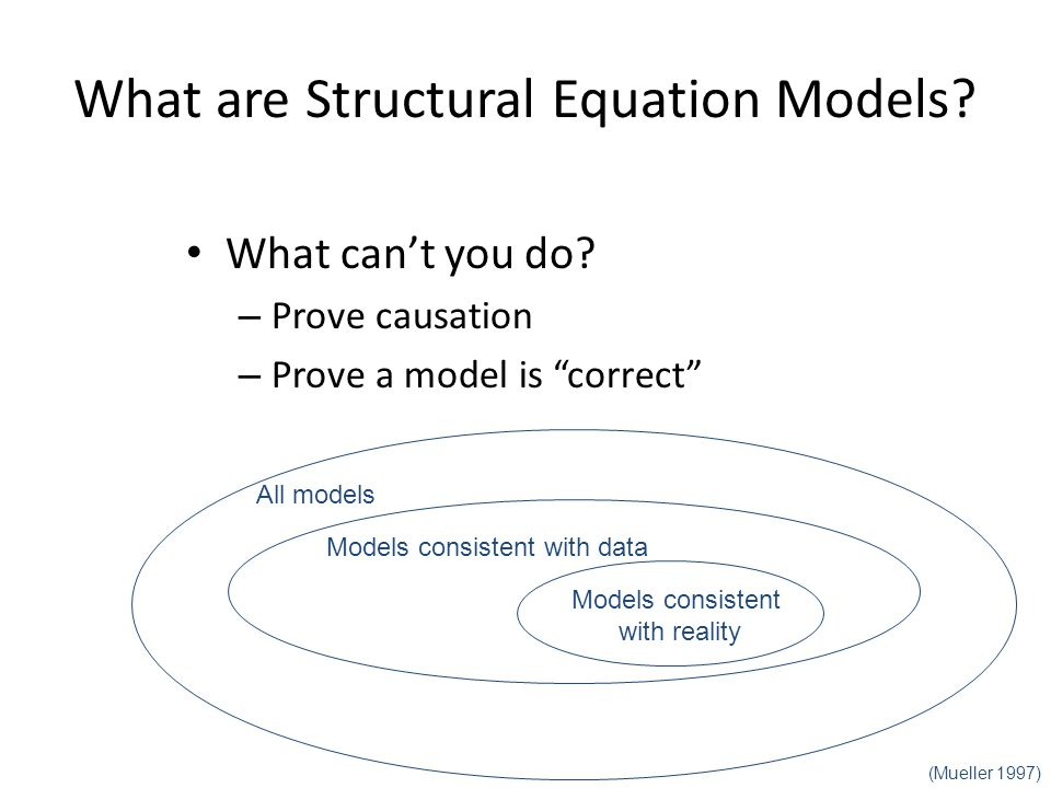 What are Structural Equation Models. What can't you do.