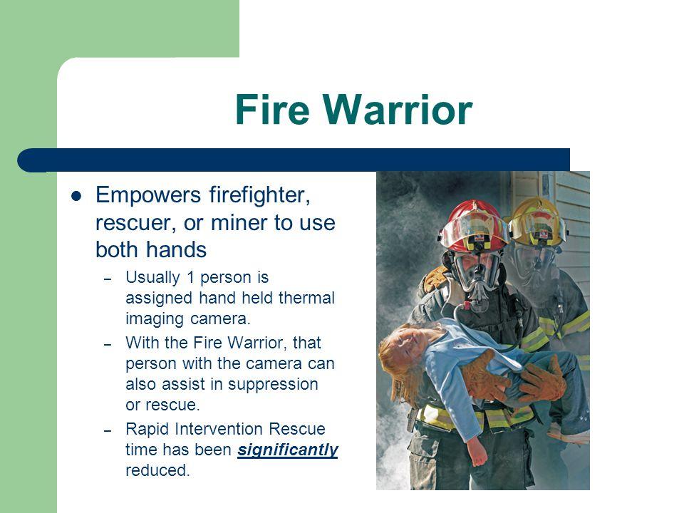 Fire Warrior OLED display technology enhances image for highest quality.