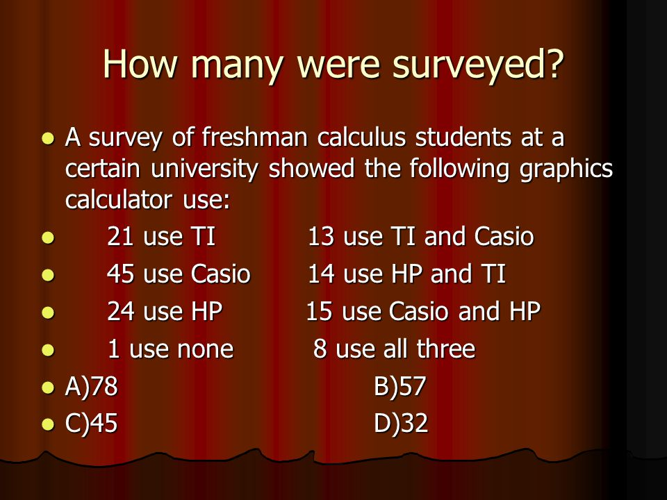 How many were surveyed.