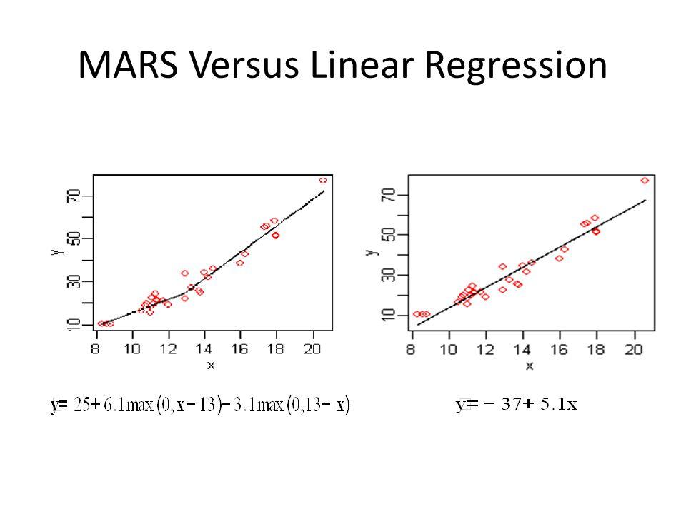 MARS Versus Linear Regression