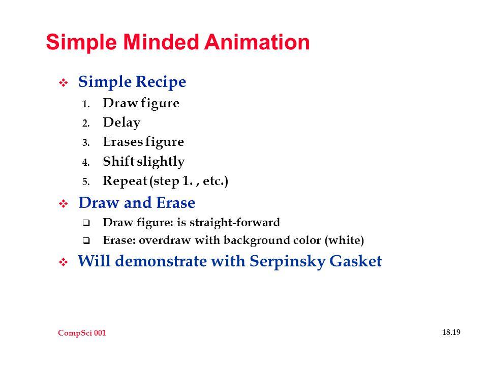 CompSci 001 18.19 Simple Minded Animation  Simple Recipe 1.
