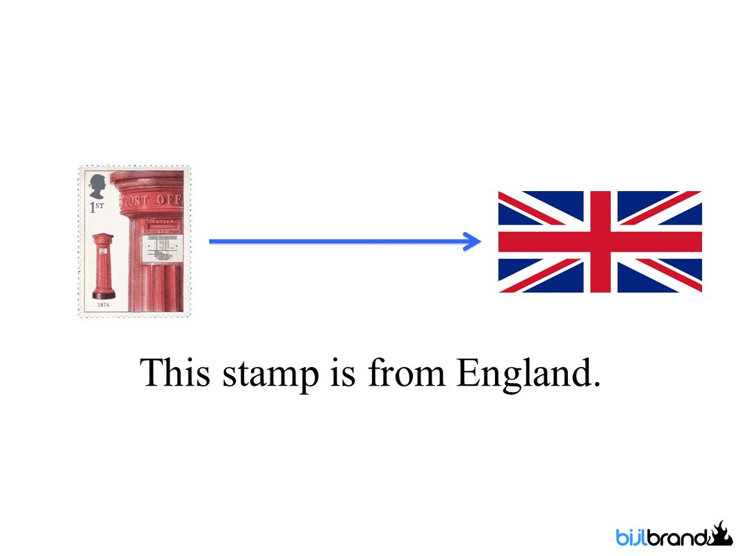 This stamp is from England.