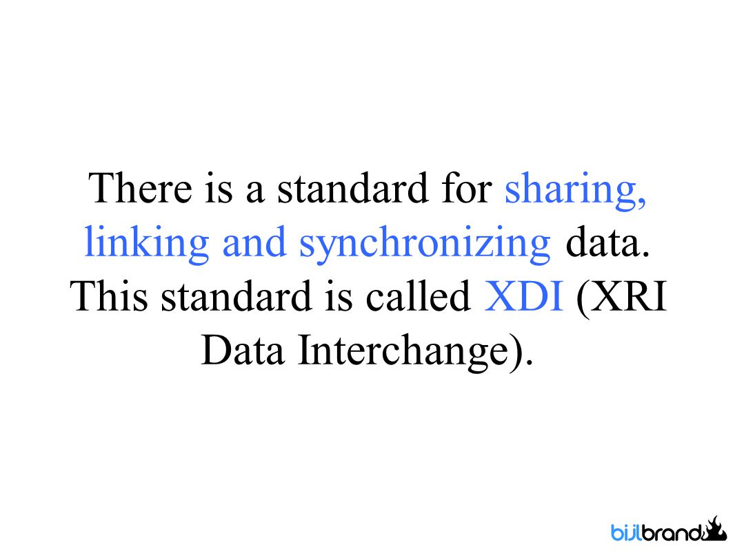 There is a standard for sharing, linking and synchronizing data.