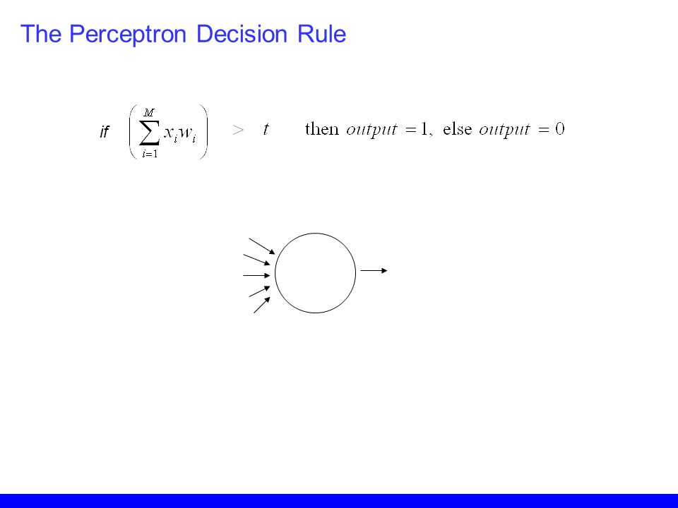 if The Perceptron Decision Rule