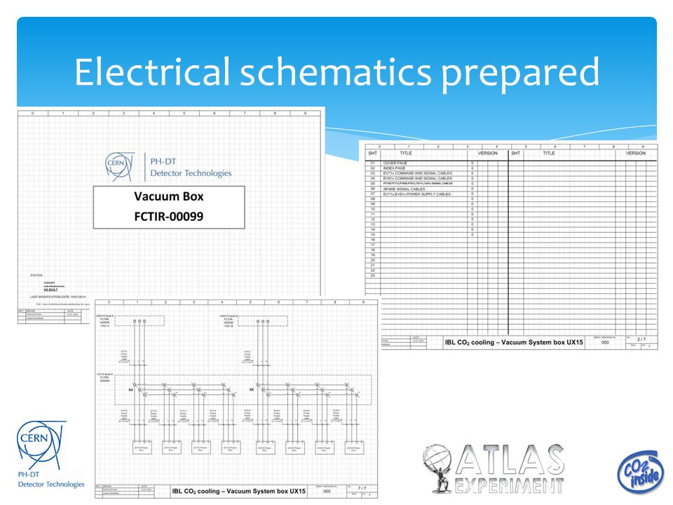 Electrical schematics prepared
